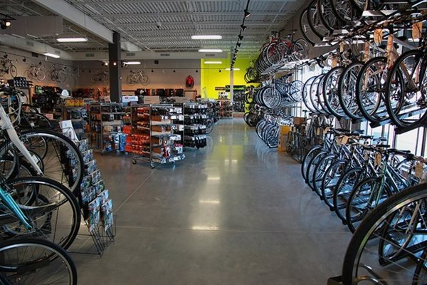 Bike Shop Polished Concrete Concrete Floors Polishing & Sealing Ltd Ottawa, ON