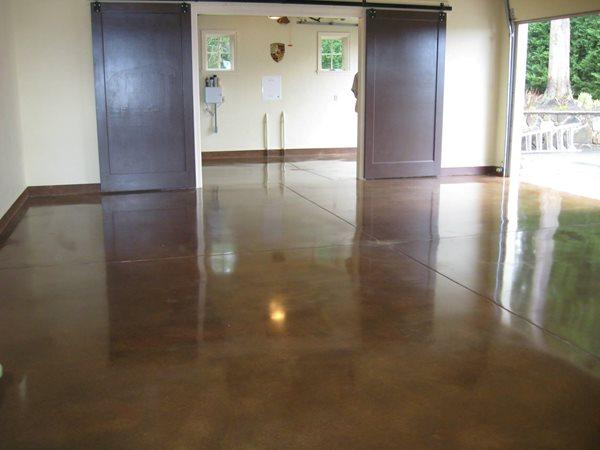 Brown Concrete, Polished Concrete, Concrete Floor Polished Concrete Deco-Pour/Harvey Construction Inc Everett, WA