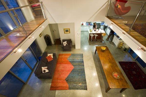 Brown Polished Floor, Concrete Polished Floor, Residential Polished Concrete Floor Polished Concrete Concrete Stone Industries Victoria, Australia