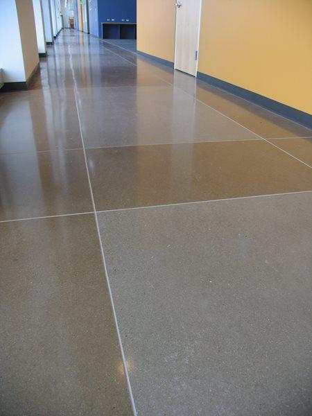 Geometric, Grey Polished Concrete Colorado Hardscapes Denver, CO