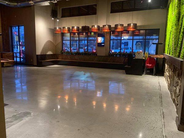 Gray Floor, Polished Floor Polished Concrete Rose Restoration Fairfax, VA