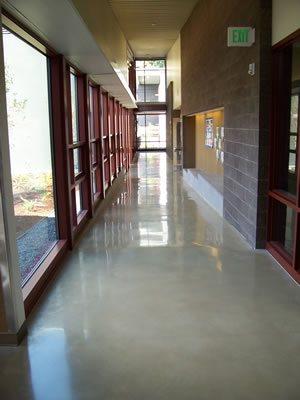 Grey, School Polished Concrete Retroplate System Provo, UT