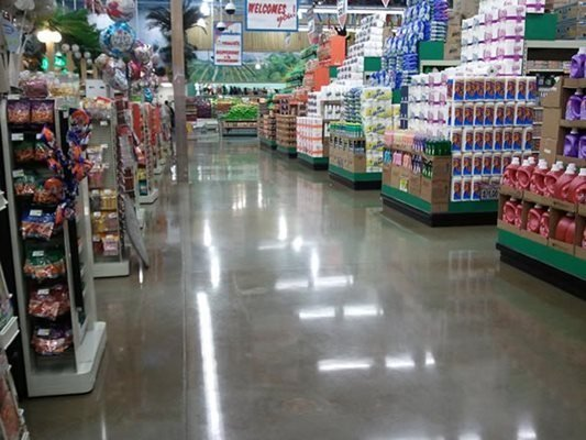 Grocery Store, Polished Concrete Polished Concrete Contract Flooring & Design Inc Kinston, NC