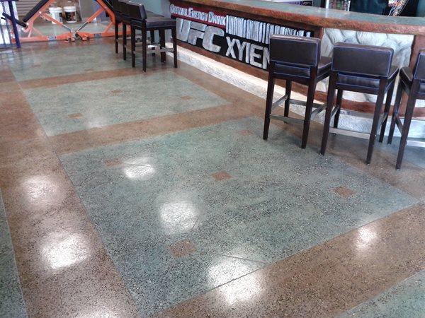 Gym Floor, Green, Brown, Aggregate Polished Concrete Polished Concrete of Philadelphia Philadelphia, PA