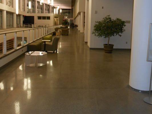 Hallway, Polished Concrete, Seating Polished Concrete Contract Flooring & Design Inc Kinston, NC