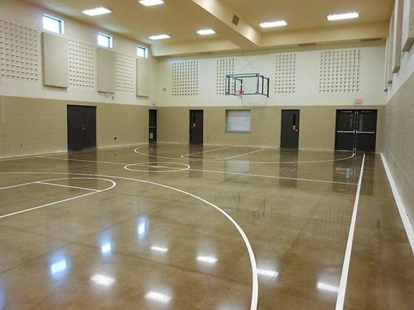 Indoor Basketball Polished Concrete Concrete Floors Polishing & Sealing Ltd Ottawa, ON