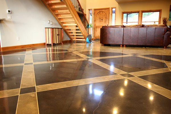 Living Room Floor, Polished Concrete Polished Concrete Floriartisan LLC Spokane Valley, WA