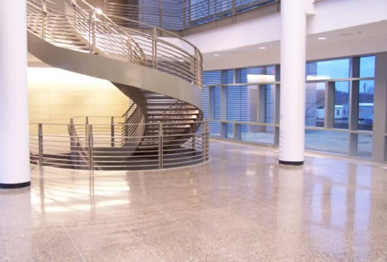 Polish, Office Polished Concrete Total Polish Solutions Knoxville, TN