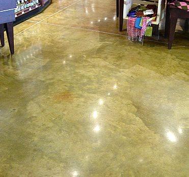 Polished Concrete Floor, Colored Polished Floor Polished Concrete Ritonya Concrete & Stone Services Omaha, NE