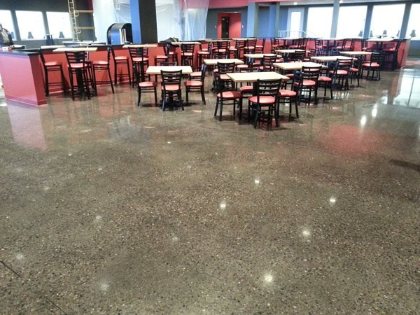 Polished Restaurant Floor, Exposed Aggregate Polished Concrete ACT Restoration Inc Brooklyn Park, MN