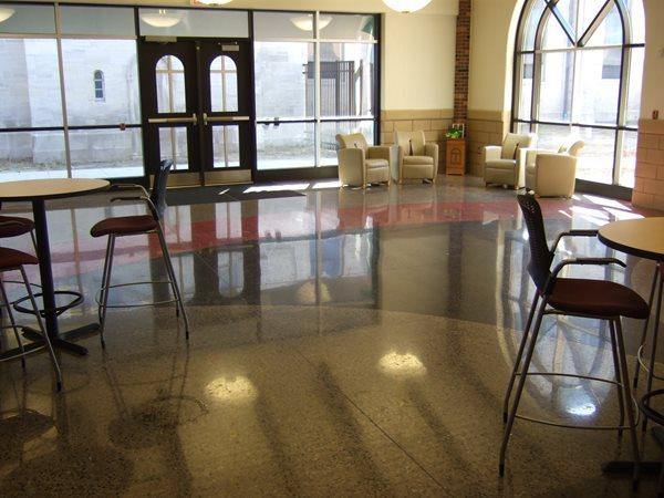 Polished School Floor Polished Concrete Burgess Concrete Construction, Inc. Moline, MI