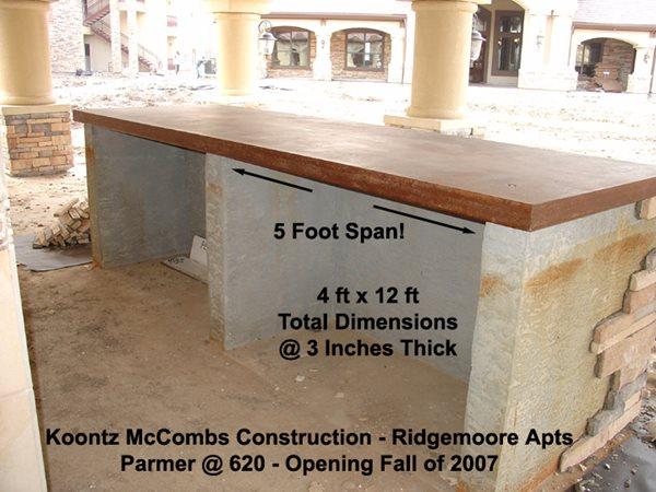 Outdoor Kitchen Products Ancient Art Concrete Countertops Austin, TX
