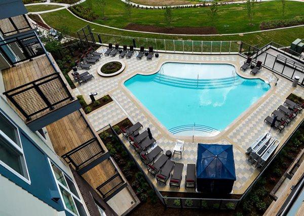 Aerial Pool, Apartment Complex Site Sundek of Washington Chantilly, VA