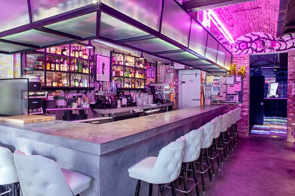 Bar, Bartop, Brooklyn, Neon Site Oso Industries Brooklyn, NY