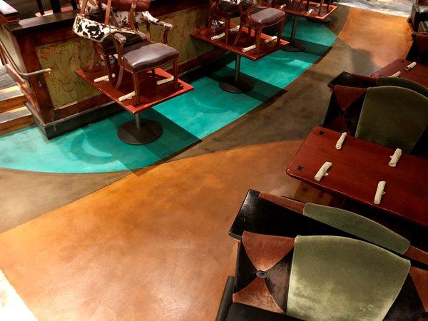 Bright Floor, Restaurant Site KB Concrete Staining Norco, CA