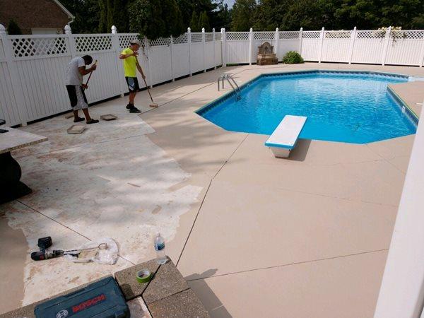 Cem Coat, Pool Deck Site Solomon Colors