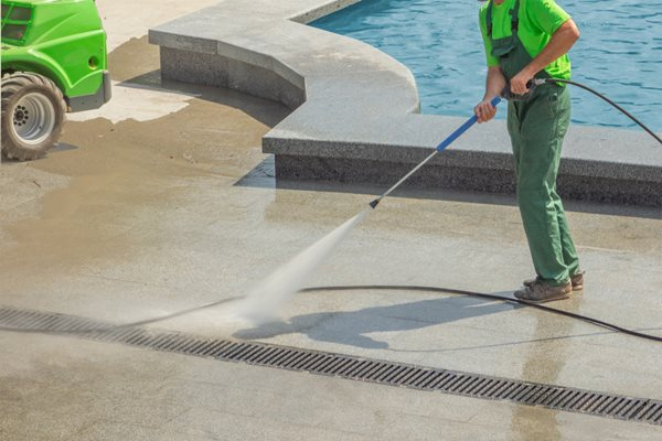Cleaning Concrete, Pool Deck Site Shutterstock