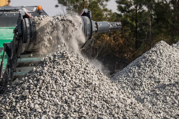 Concrete Recycling, Crushed Concrete Site Shutterstock