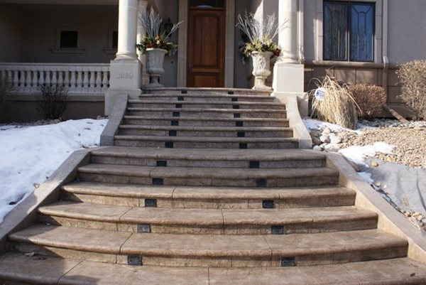 Entryway, Stairs, Concrete Site Rocky Mountain Hard Rock Flooring Billings, MT