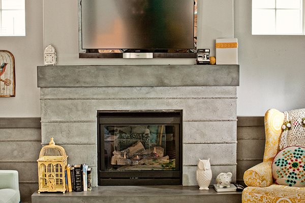 Fireplace, Custom Concrete Site Concrete Wave Design Anaheim, CA