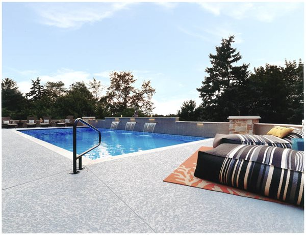 Gray Pool Deck Site Sundek Products USA, Inc. Arlington, TX