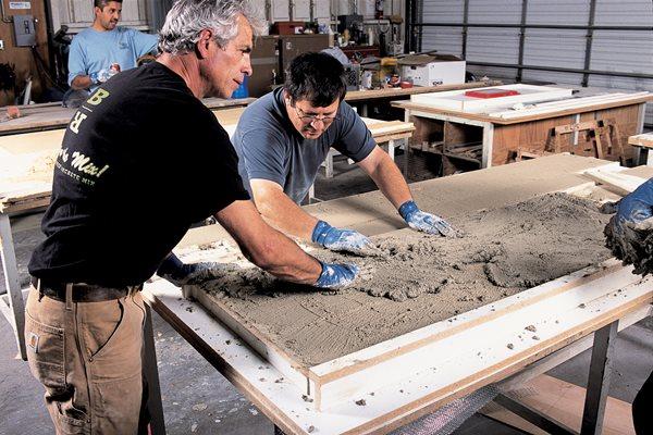 Making Concrete Countertops Site Buddy Rhodes Concrete Products SF, CA