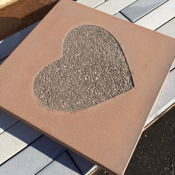 Paver Heart, Exposed Aggregate Site Stepstone, Inc.