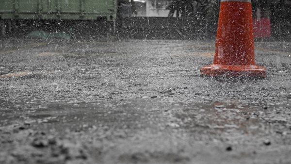 Rain On Fresh Concrete Site Shutterstock