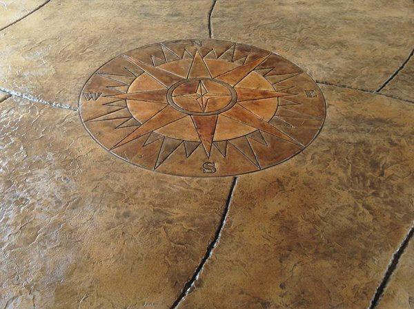 Stamped Compass Medallion Site Brickform Rialto, CA