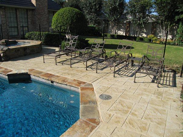 Stamped Concrete, Ashlar Slate Site Sublime Concrete Solutions LLC. Plano, TX