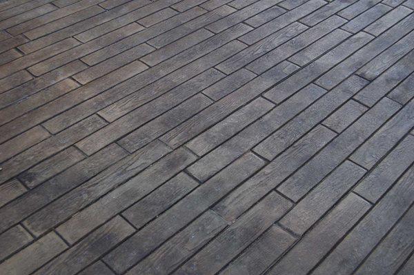 Stamped Concrete, Cedar Wood Flooring Site Brickform Rialto, CA