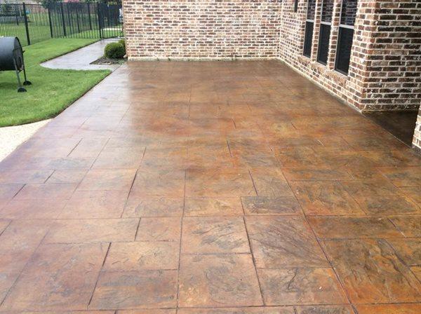 Stamped Concrete, Stamped Patio Site Elite Concrete Decor Forney, TX
