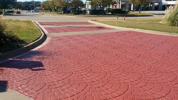 Stamped Driveway, Euopean Fan Site BDC Coatings Grand Prairie, TX