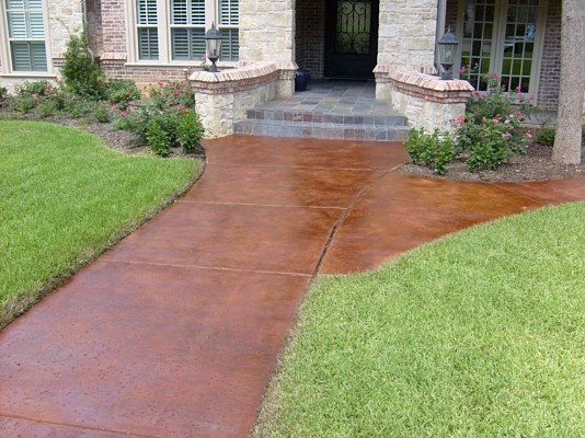 Walkway, Stained, Entrance Site Elite Concrete Decor Forney, TX