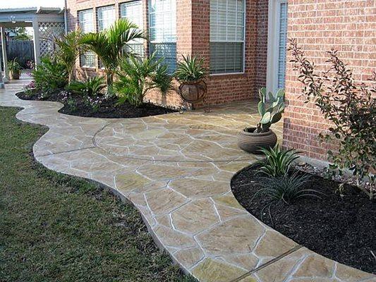 Walkway, Stamped, Plants Site Increte of Houston Stafford, TX