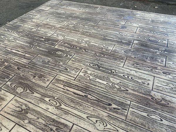 Weather Wood Plank, Stmaped Concrete Site Brickform Rialto, CA