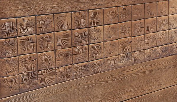 Wood Block, Stamped Concrete Site Brickform Rialto, CA