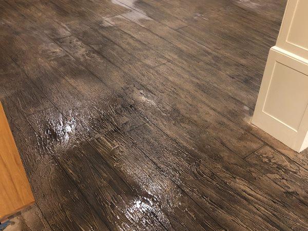 Wood Look, Concrete Floor Site Infinite Concrete Concepts -biz sold Stanfordville, NY