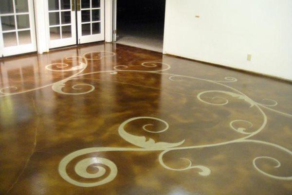 Concrete Floor Art Stained Concrete Floor Seasons Inc Las Vegas, NV