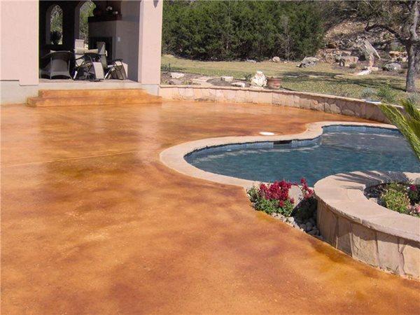 Stained Concrete Custom Concrete Solutions Schertz, TX
