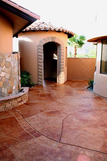 Stained Concrete Nanolia Palm Desert, CA