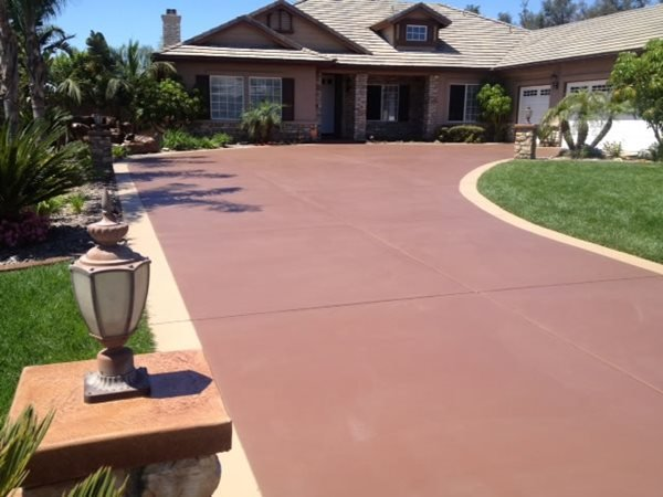 Stained Concrete Driveway Makeover Stained Concrete KB Concrete Staining Norco, CA
