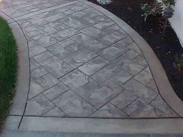 Ashlar Slate Pattern Stamped Concrete San Jose Concrete San Jose, CA