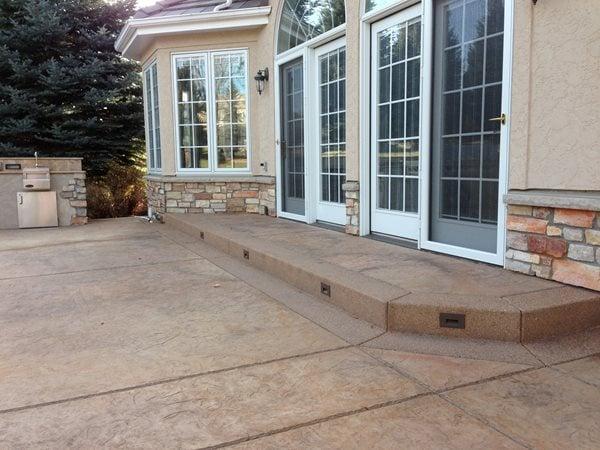 Brown Stamped Concrete Patio Stamped Concrete Diehl Concrete Sedalia, CO