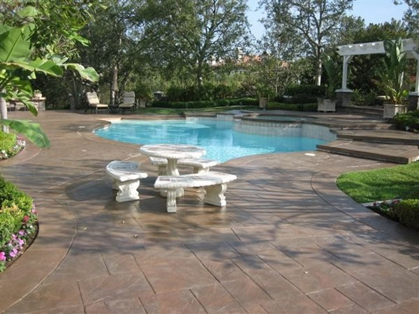Brown, Tiles Stamped Concrete Super-Krete Products Spring Valley, CA