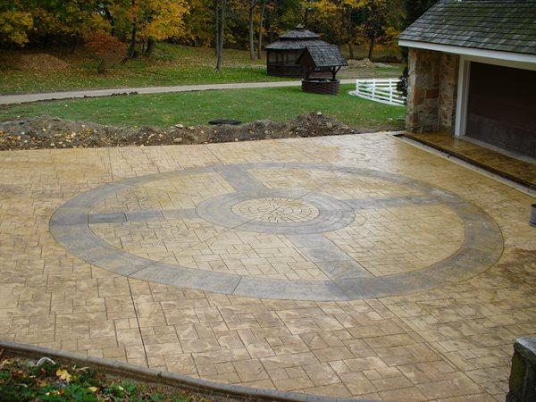 Compass, Stamped Stamped Concrete DecoCrete by Weaver Concrete Specialties, Inc. Ephrata, PA