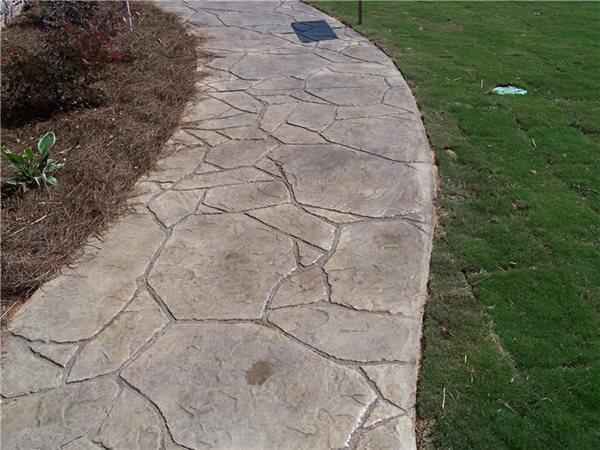 Concrete, Walkway, Concrete Walkway, Stamped Concrete Stamped Concrete Concrete Aesthetics, LLC Talking Rock, GA