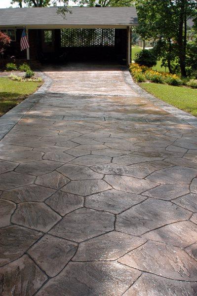 Flagstone, Natural Stamped Concrete Decorative Concrete Institute Temple, GA