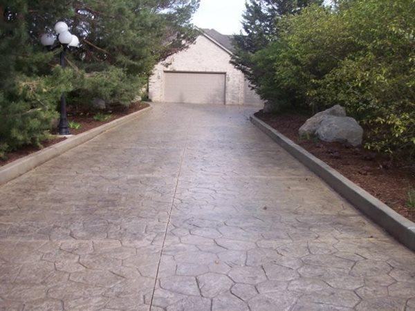 Flagstone, Natural Stamped Concrete Kline Construction, Inc Elgin, IL