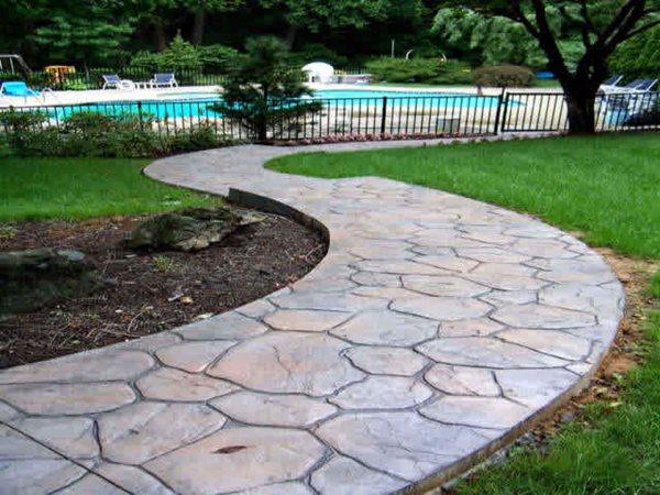 Flagstone, Natural Stamped Concrete Split-Rok Construction Co Lakewood Township, NJ